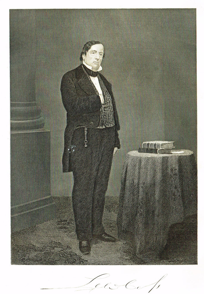 "Duyckinck's National Portrait Gallery - ""LEWIS CASS"" - Steel Enraving - 1862"