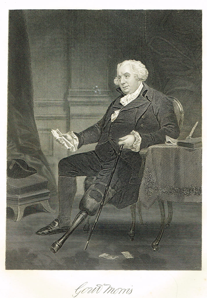 "Duyckinck's National Portrait Gallery - ""GOUVERNEUR MORRIS"" - Steel Enraving - 1862"