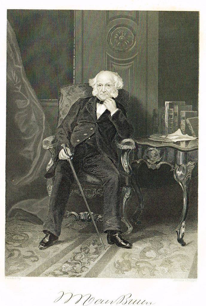 "Duyckinck's National Portrait Gallery - ""MARTIN VAN BUREN"" - Steel Enraving - 1862"
