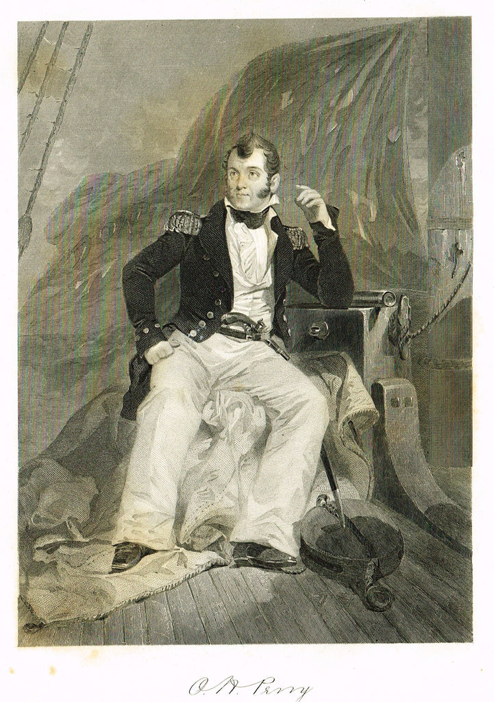 "Duyckinck's National Portrait Gallery (Military) - ""OLIVER HAZARD PERRY"" - Steel Engraving - 1862"
