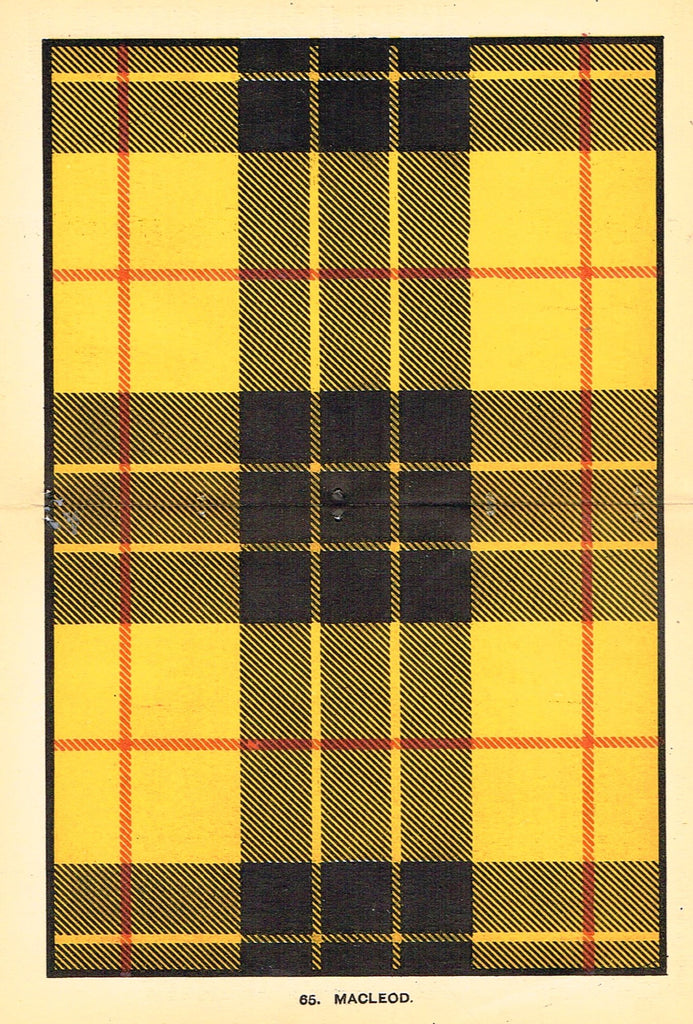 "Johnston's Scottish Tartans - ""MACLEOD"" - Chromolithograph - c1890"