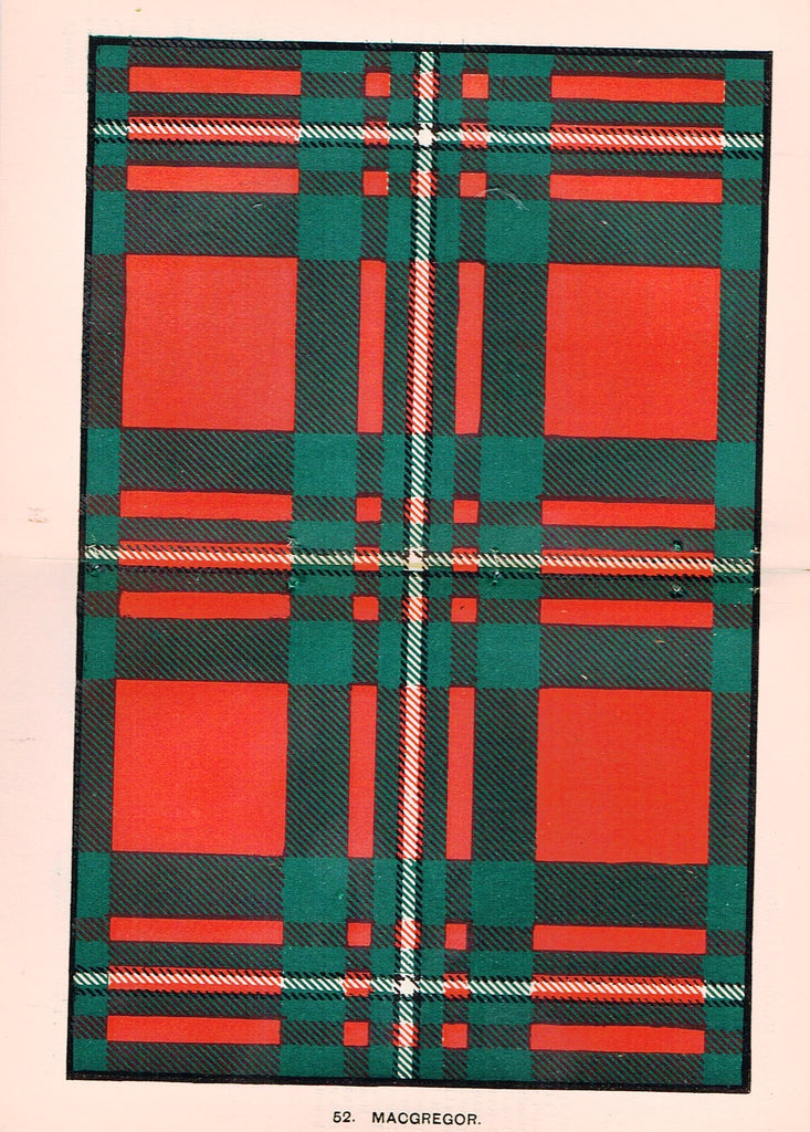 "Johnston's Scottish Tartans - ""MACGREGOR"" - Chromolithograph - c1890"