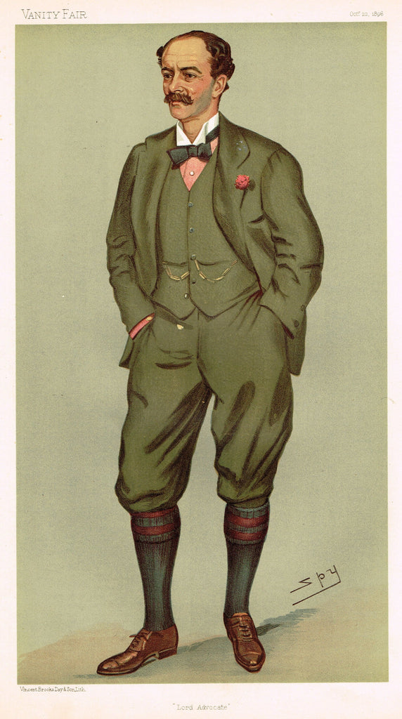 "Vanity Fair (SPY) Print - ""LORD ADVOCATE"" - ANDREW MURRAY - Chromolithograph - 1896"