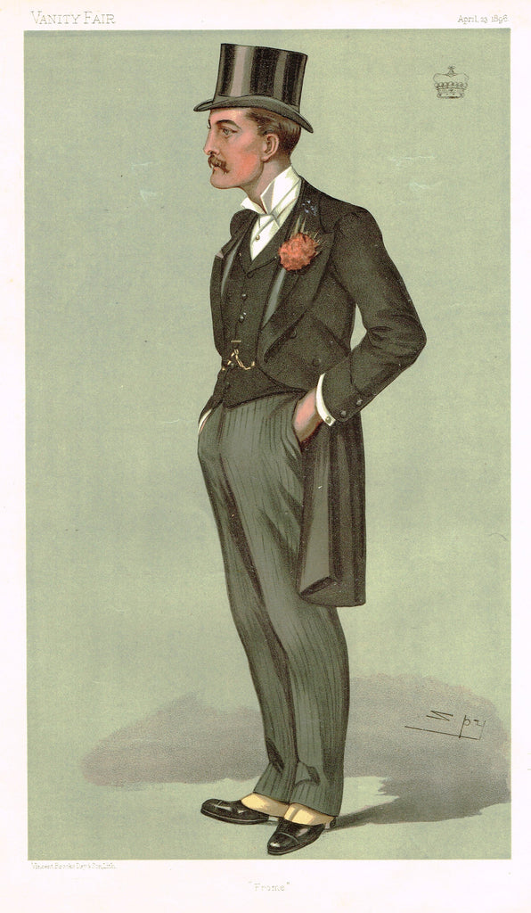 "Vanity Fair (SPY) Print - ""FROME"" - THE MARQUIS OF BATH  - Chromolithograph - 1896"