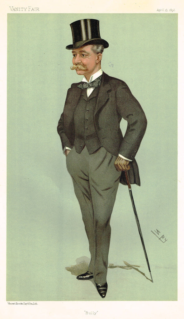 "Vanity Fair (SPY) Print - ""BULLY"" - COL. LAURENCE OLIPHANT  - Chromolithograph - 1896"