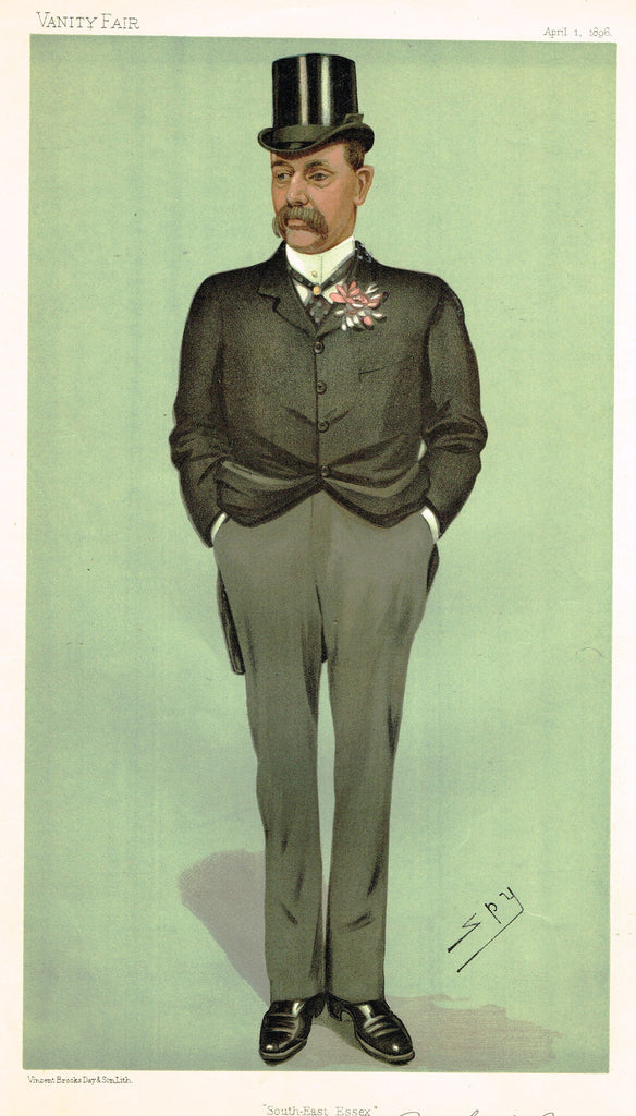Vanity Fair (SPY) Print - A FINANCIAL SECRETARY - WILLIAM HANBURY - Chromo - 1896