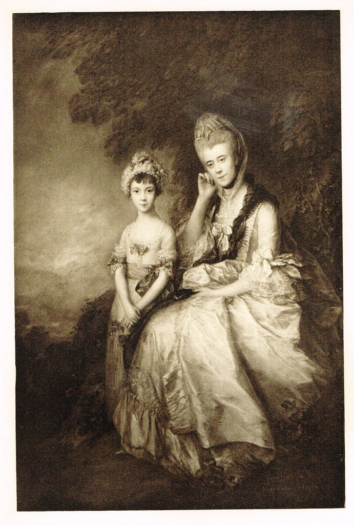 "Photogravure Print - ""THE MARCHAM CHILDREN""  from Thomas Gainsborough - c1890"