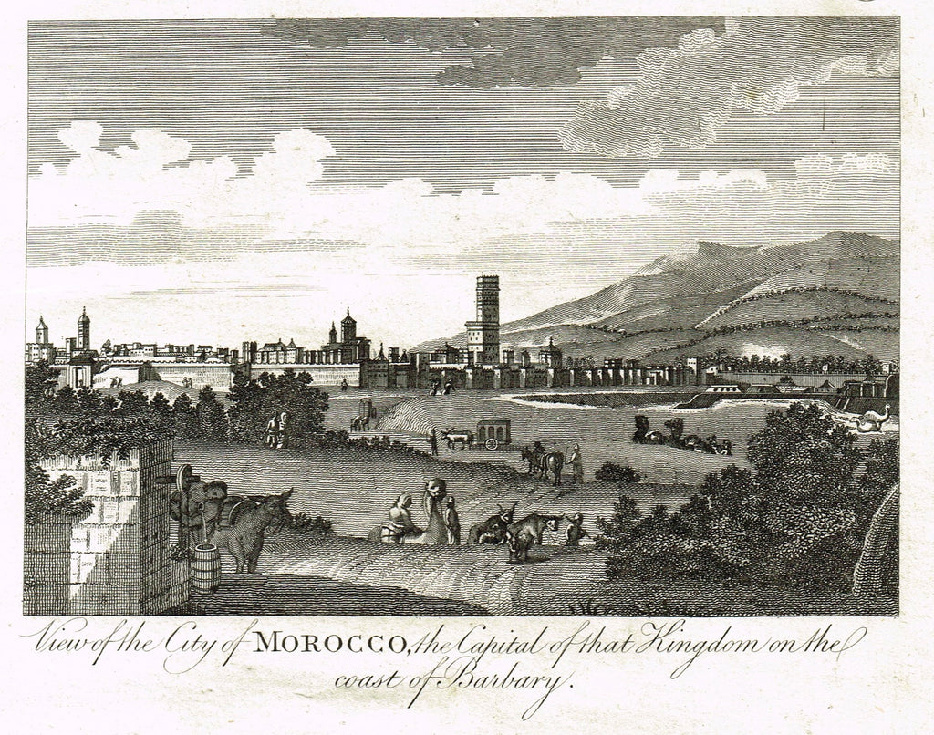 Bankes's Geography - CITY OF MOROCCO, CAPITAL KINGDOM ON COAST OF BARBARY -  Engraving - 1771