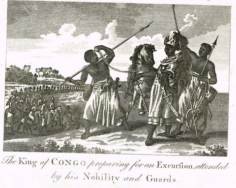 Bankes's Geography - KING OF CONGO PREPARING FOR EXECUSION -  Engraving - 1771