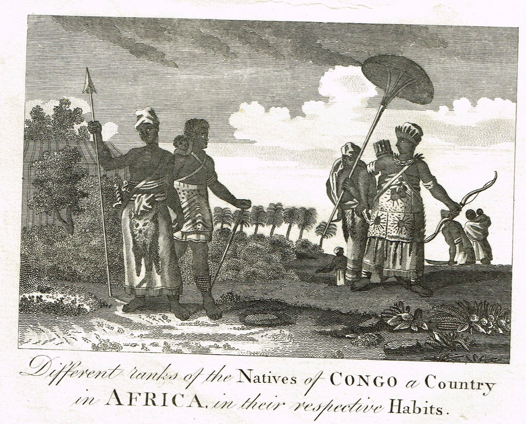 Bankes's -  RANKS OF THE NATIVES OF CONGO IN THEIR RESPECTIVE HABITS -  Engraving - 1771