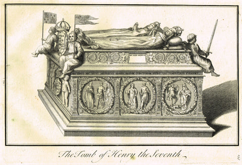 "Dart's Westminster Abbey Tomb - ""TOMB OF HENRY THE SEVENTH"" - Copper Engraving - 1723"
