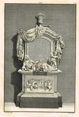 "Dart's Westminster Abbey Tomb - ""THOMAS THYNN OF LONG LEATE"" - Copper Engraving - 1723"