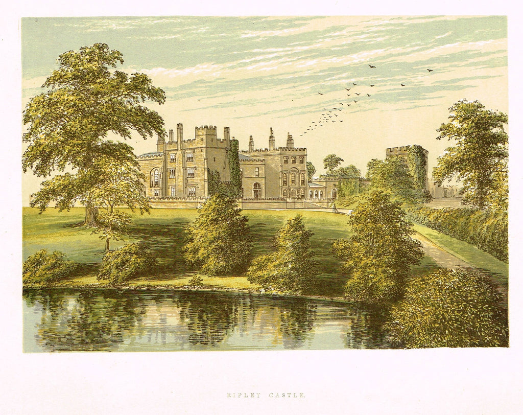 "Morris's County Seats - ""RIPLEY CASTLE"" - Chromolithograph - 1866"