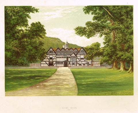 "Morris's County Seats - ""MEER HALL"" - Chromolithograph - 1866"