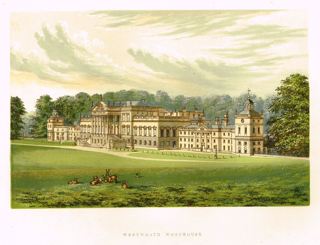 "Morris's County Seats - ""WENTWORTH WOODHOUSE"" - Chromolithograph - 1866"