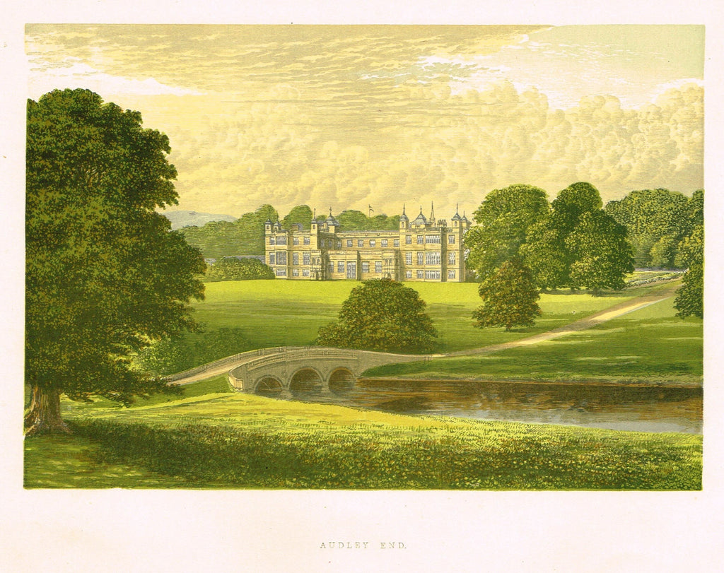 "Morris's County Seats - ""AUDLEY END"" - Chromolithograph - 1866"