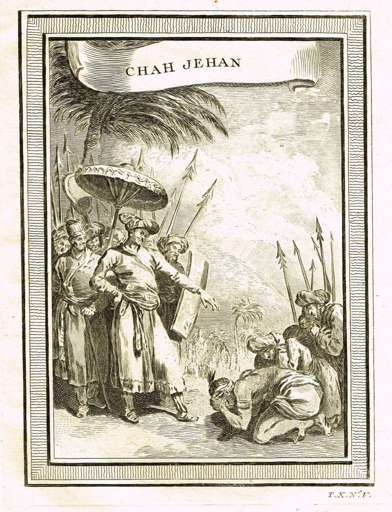 "Miscellaneous Races of Man - ""CHAH JEHAN - INDIA, MUGHAL""  by Prevost - Copper Engraving - 1747"