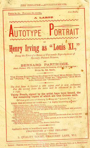"Antique Advertising Ephemera -  ""AUTOTYPE PORTRAIT"" - Lithograph - 1875-94"