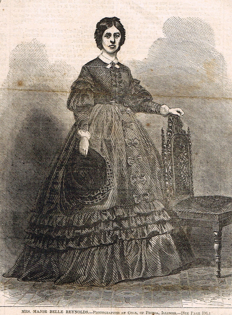 Harper's Weekly -  MRS. MAJOR BELLE REYNOLDS - Civil War - May 17,,1862