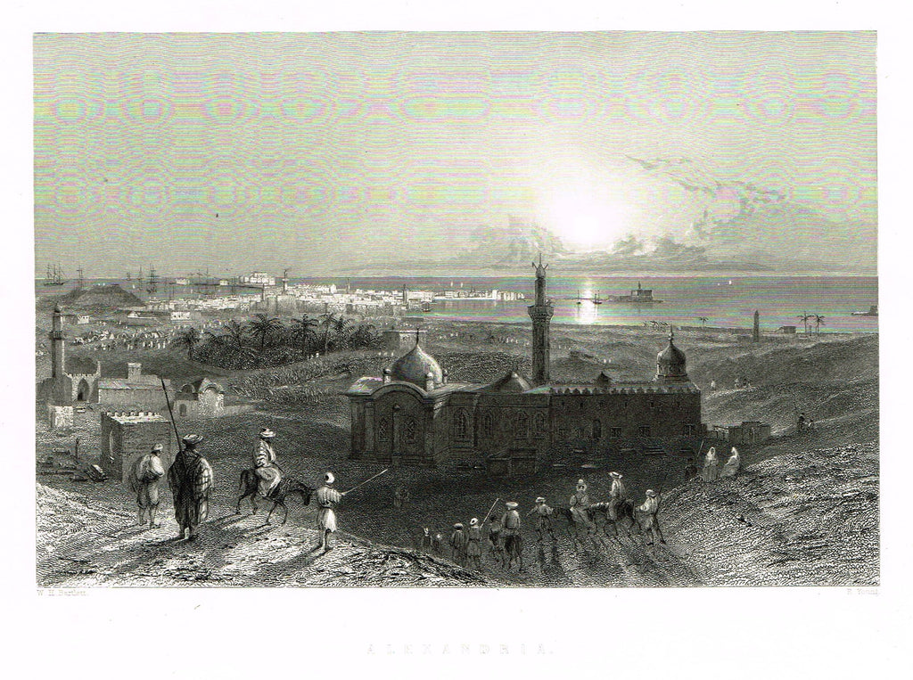 "Bartlett's ""ALEXANDRIA"" - SYRIA - Steel Engraving - 1836"