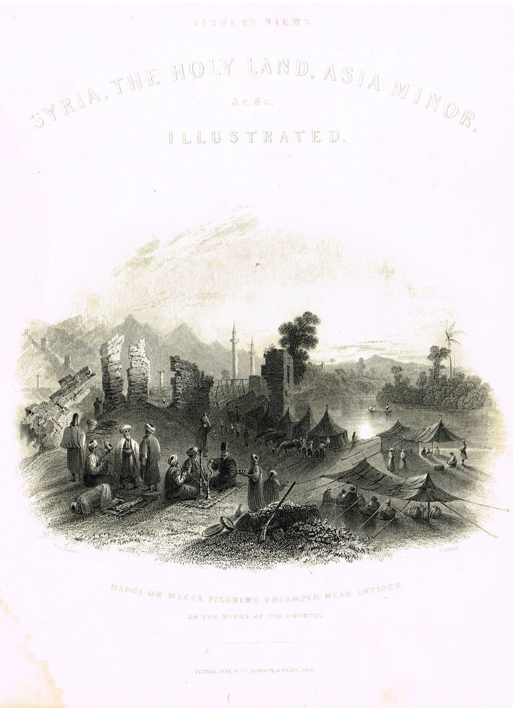 "Bartlett's ""VILLAGE OF EDEN"" - SYRIA - Steel Engraving - c1840"