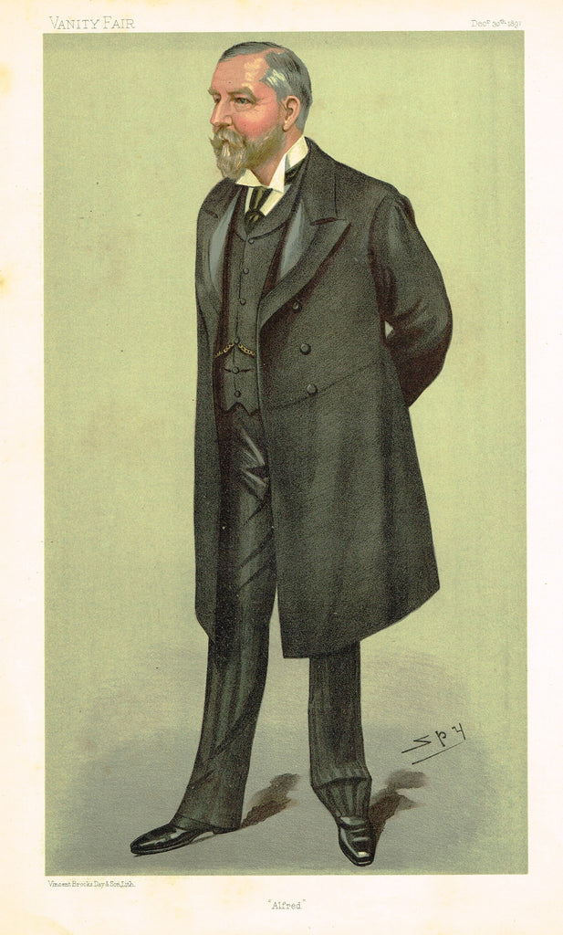 "Vanity Fair (SPY) Print -  ""ALFRED"" - Alfred Cooper, FRCS - Chromolithograph - 1897"