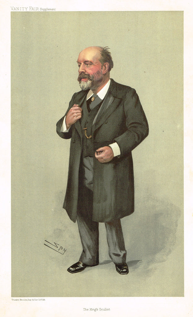 "Vanity Fair (SPY) Print -  ""THE KING'S OCULIST"" - Sir Anderson Critchett - Chromolithograph - 1895"