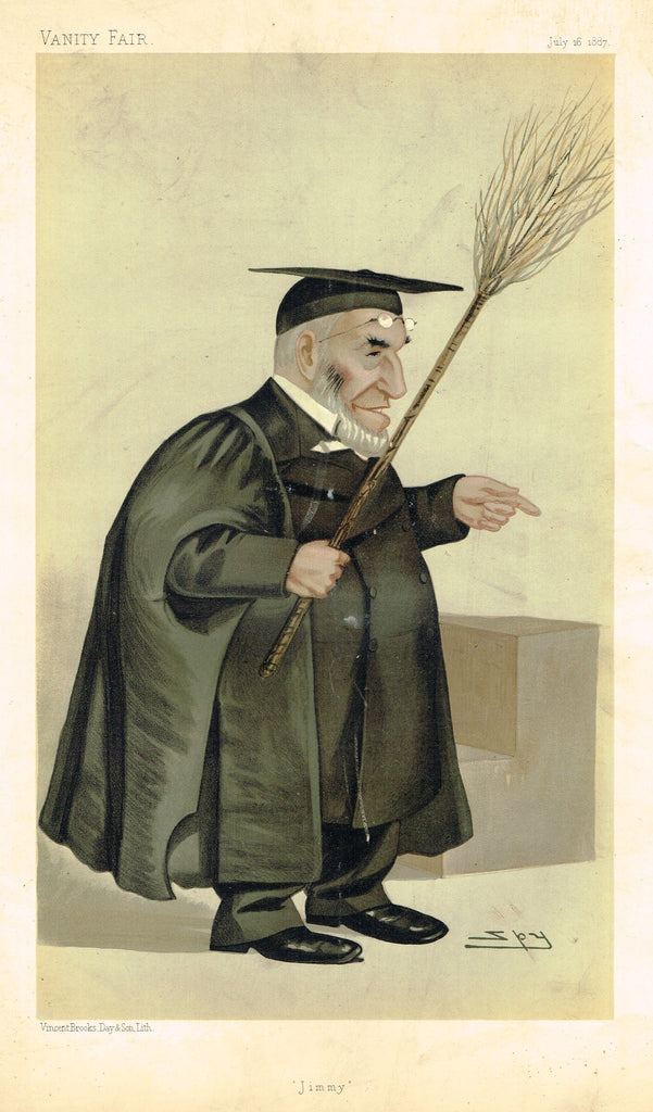 "Vanity Fair (SPY) Print -  ""JIMMY"" - Rev. James Leigh Joynes - Chromolithograph - 1895"