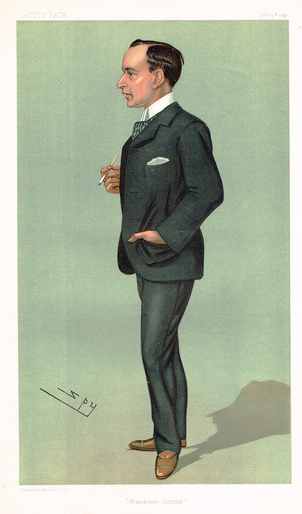 "Vanity Fair (SPY) Print -  ""ST. ANDREW'S DISTRICT"" - Henry Anstruther, MP - Chromolithograph - 1897"