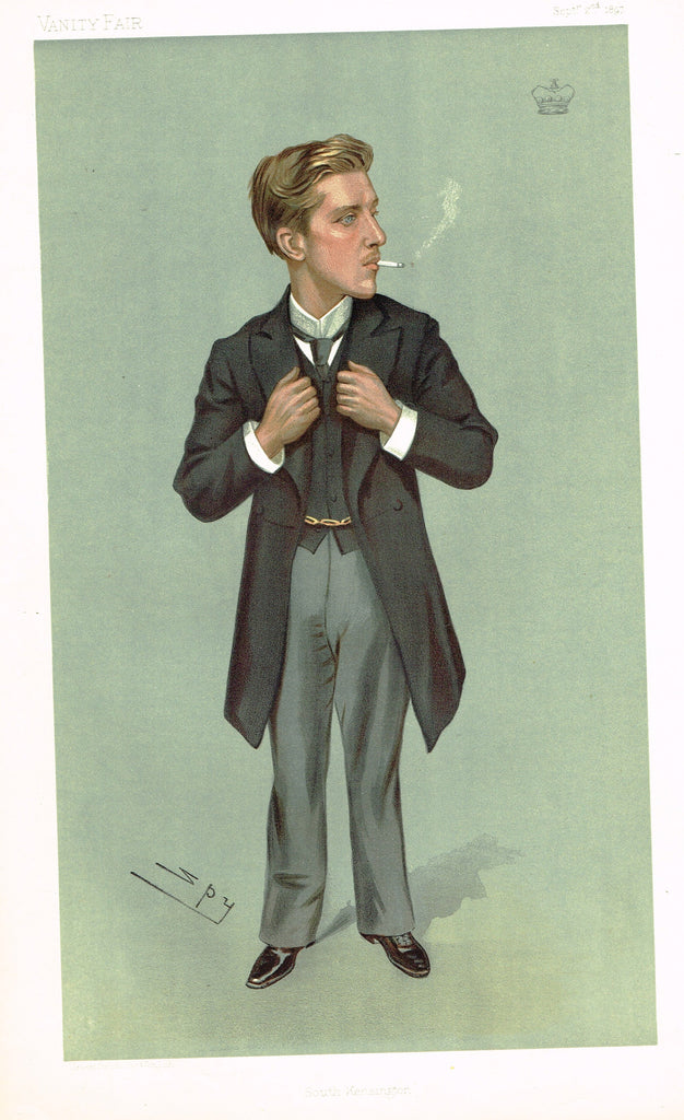 "Vanity Fair (SPY) Print -  ""SOUTH KENSINGTON"" - Lord Warkworth - Chromolithograph - 1897"