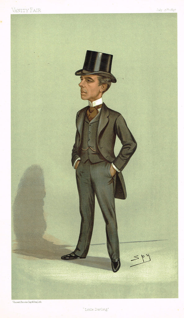 "Vanity Fair (SPY) Print -  ""LITTLE DARLING"" - Charles Darling MP - Chromolithograph - 1897"