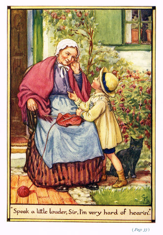 "Cicely Mary Barker Print -  ""SPEAK A LITTLE LOUDER, SIR"" - Offset Lithograph - c1930"