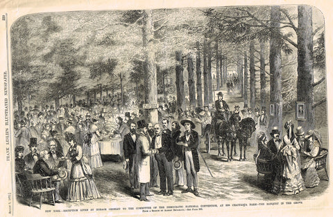 Leslie's Illustrated - 1872 - RECEPTION GIVEN BY HORACE GREELEY