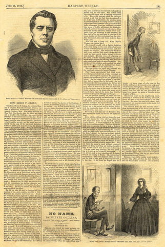 "Leslie's Illustrated Newspaper - 1872 - ""HON. MOSES F. ODELL, MEMBER OF CONGRESS"""