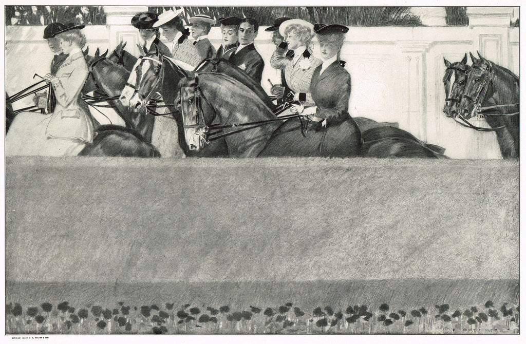 "Sporting Print - ""WASHINGTRON,S BIRTHDAY"" by A. I. Keller - Offset Lithograph - 1906"
