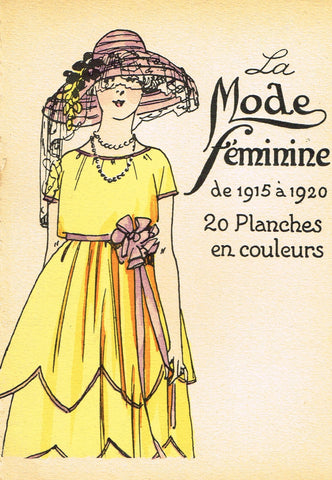 "La Mode Feminine Fashion Plate-  ""COVER 1915-1920"" -  Chromolithograph - c1920"