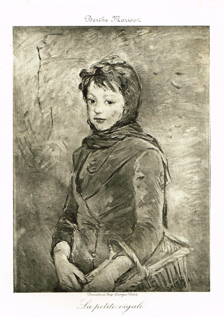 "Fine Art - Etching - ""LA PETITE CIGALE"" from Berthe Morisot , Etched by Georges Petit  - c1880"