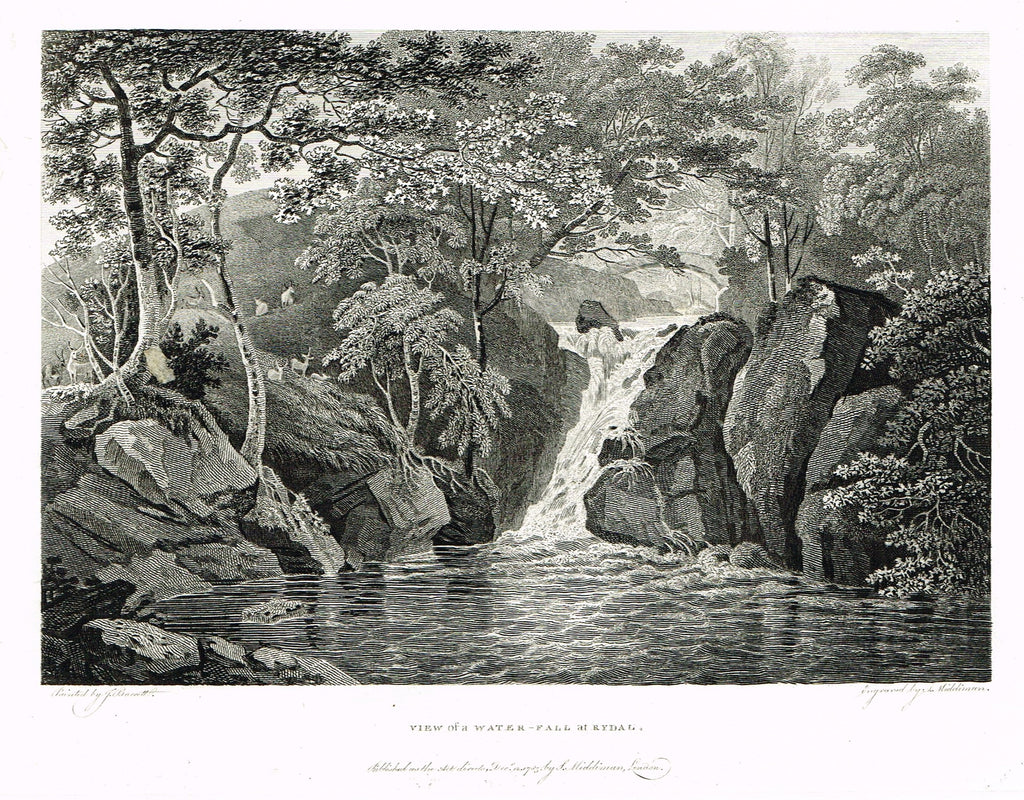 VIEW OF WATER FALL AT RYDAL