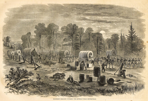 BLENKER'S BRIGADE COVERING RETREAT NEAR CENTREVILLE