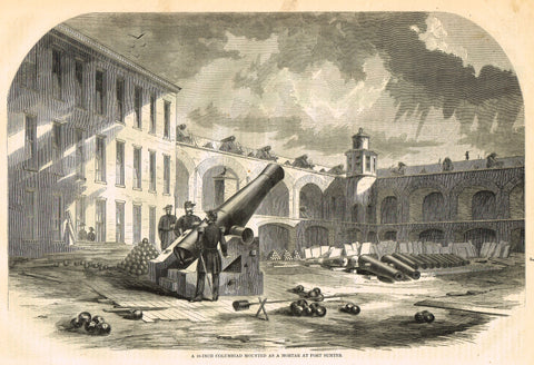 10 INCH COLUMBIAD MORTAR AT FORT SUMPTER