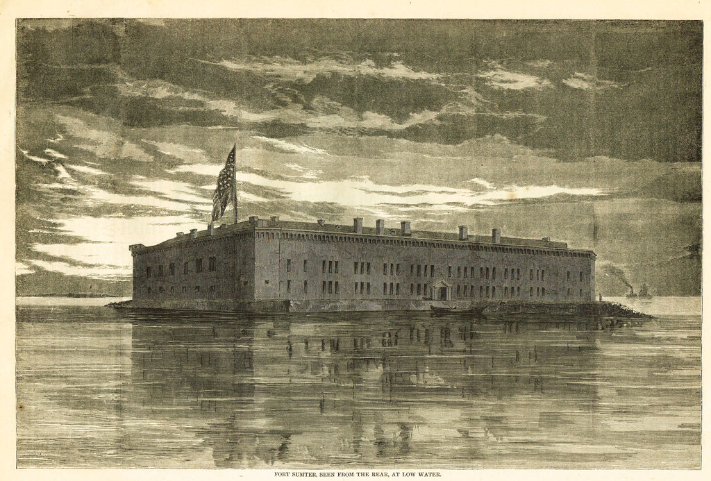 FORT SUMPTER, SEEN FROM THE REAR, AT LOW WATER