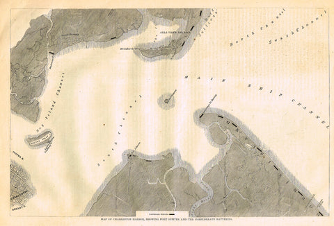 MAP OF CHARLSTON HARBOUR, SHOWING FORT SUMPTER