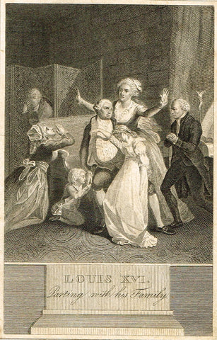 LOUIS XVI PARTING WITH HIS FAMILY