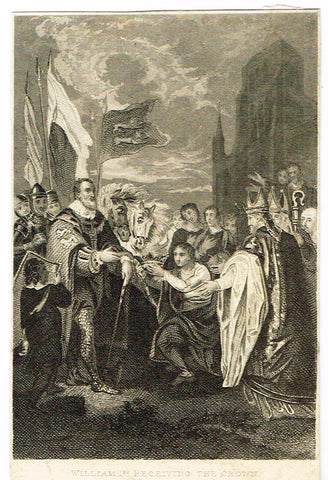 WILLIAM 1st RECEIVING THE CROWN