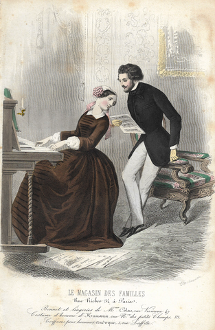 WOMAN AT PIANO WITH MAN