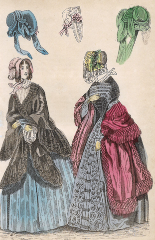 WOMEN IN COATS & BONNETS