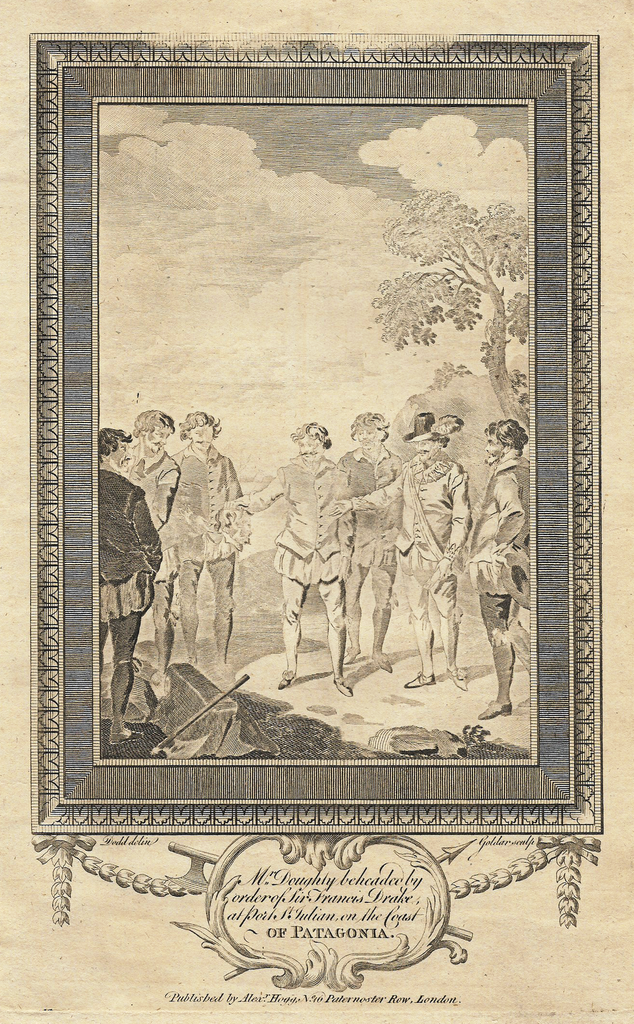 DOUGHLY BEHEADED BY SIR FRANCIS DRAKE