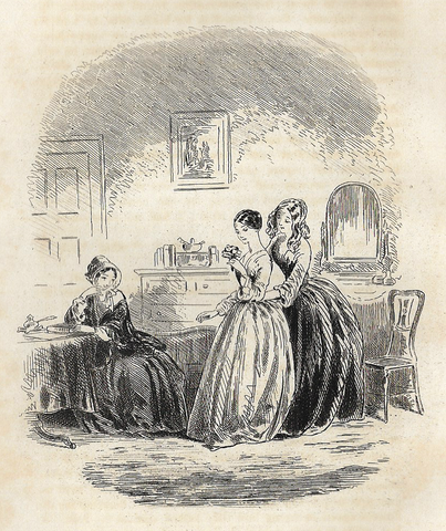 "Dickens's Bleak House - 1873 -  ""MISS JELLYBY"" - Steel Engraving"