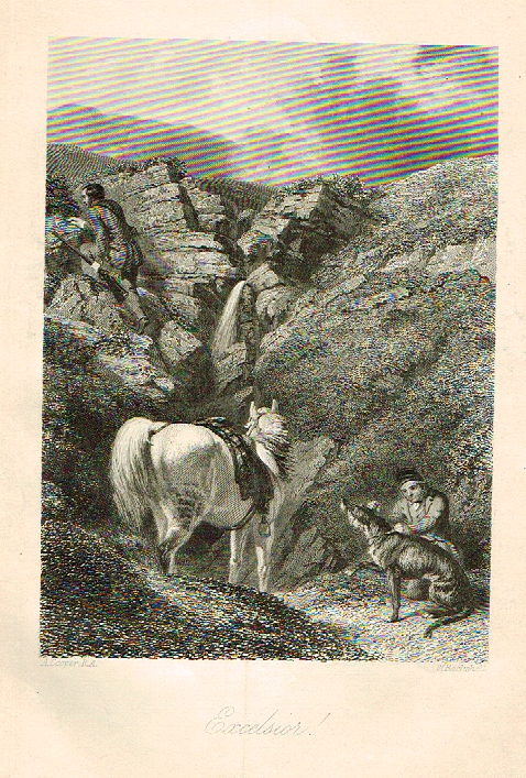 "Sporting Magazine - ""EXELSIOR""  (HUNTING) - Engraving - c1865"