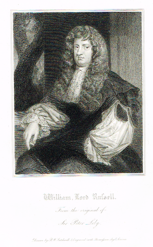 "Lodge's ""WILLIAM, LORD RUSSELL""  - Portrait Engraving - 1816"